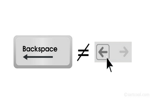 Backspace to go back Google Chrome